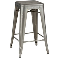 H Stool 65 in Steel with Satin Lacquer by Chantal Andriot and Tolix