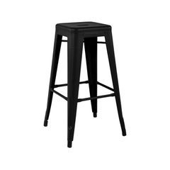 H Stool 75 Indoor -  in Black by Chantal Andriot and Tolix, US