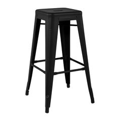 H Stool 75 in Black by Xavier Pauchard and Tolix, US