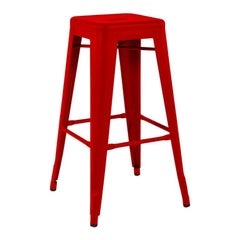H Stool 75 in Chili Pepper by Xavier Pauchard and Tolix, US