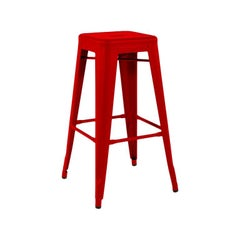H Stool 75 in Chilli Pepper by Chantal Andriot and Tolix, US