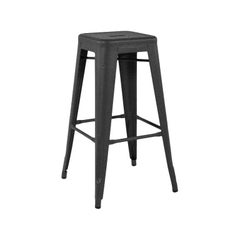 H Stool 75 in Graphite by Chantal Andriot and Tolix, US