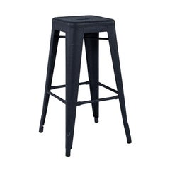 H Stool 75 in Midnight Blue by Xavier Pauchard and Tolix, US