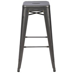 H Stool 75 in Steel with Glossy Lacquer by Chantal Andriot and Tolix