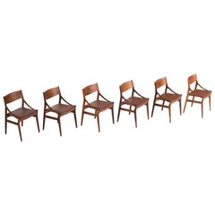 H. Vestervig Eriksen, Set of Six Rosewood Dining Chairs