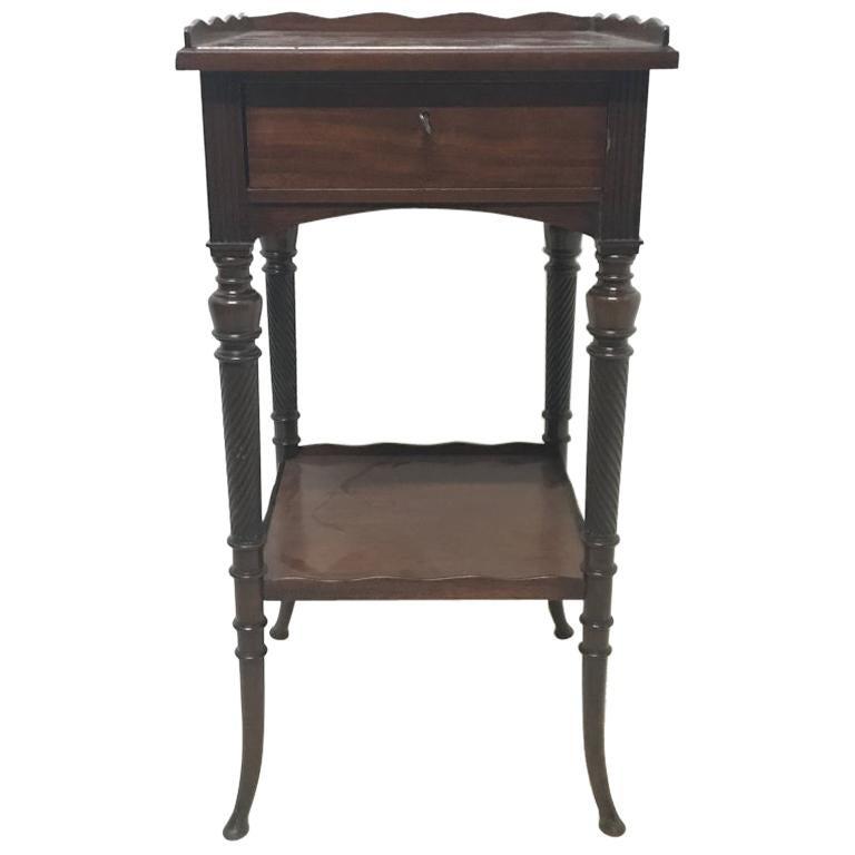 H W Batley, for Collinson & Lock, an Aesthetic Movement Mahogany Side Table