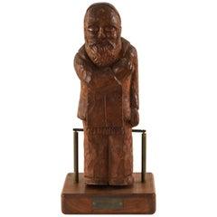 H. W. Hauptman Wooden Kinetic Rabbi Sculpture
