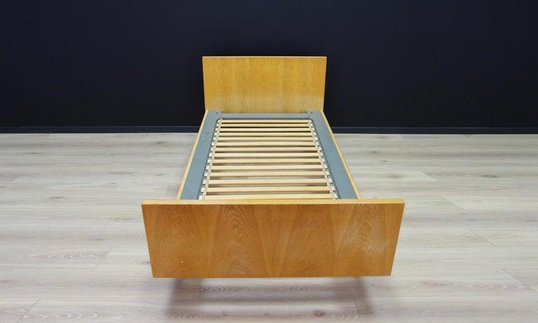 Scandinavian H. Wegner Brown Bed 1960s Ash Vintage Danish Design For Sale