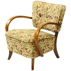 H237 Armchairs by Jindrich Halabala in Original Upholstery, Czechoslovakia 1930s