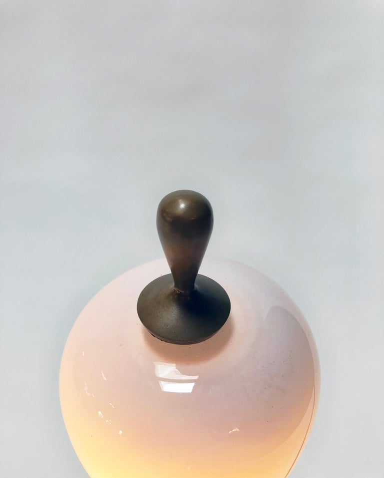 H57 Boudoir Table Lamp, Cast Bronze and Blown Glass, Jordan Mozer, USA, 2007 For Sale 2