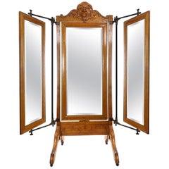 Haberdasher's Triple Cheval Dressing Mirror