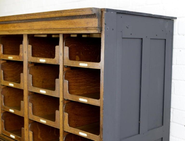English Haberdashery Cabinet by E Pollard & Co, circa 1910 For Sale