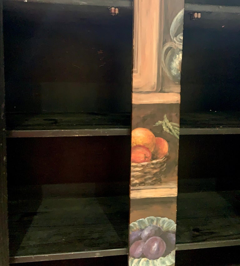 20th Century Habersham Hand-Painted Trompe l'Oeil Fruit Vegetable Cabinet Cupboard CLEARANCE