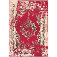 Habibib Rug in Hand Knotted Wool and Botanical Silk
