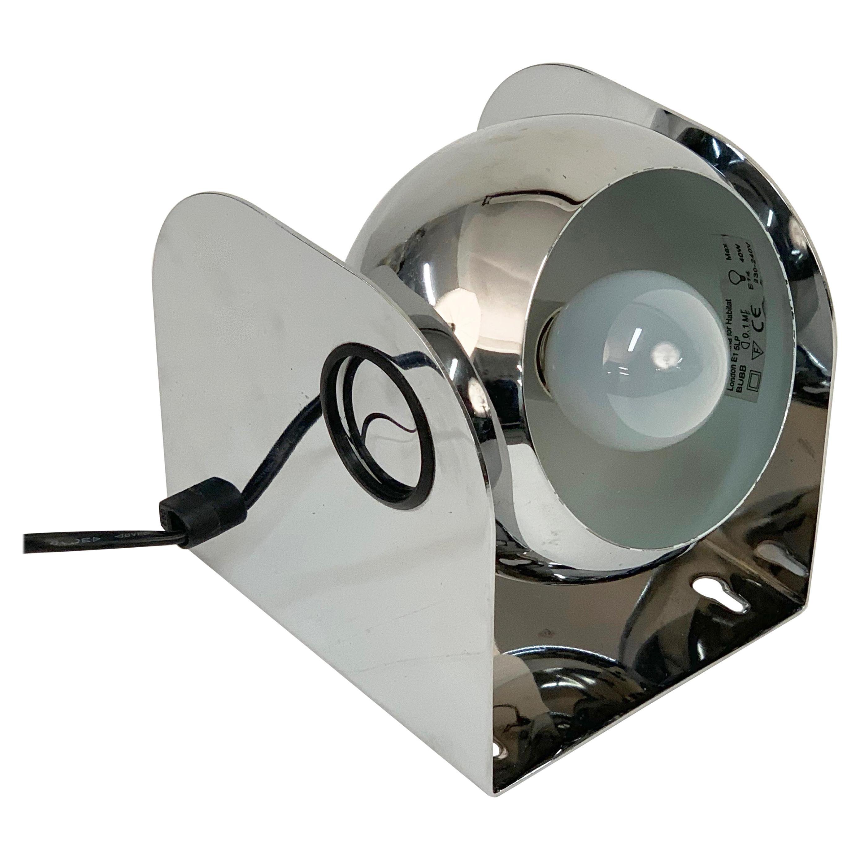 Habitat Modern Chromed Metal Italian Table Lamp, 1980s