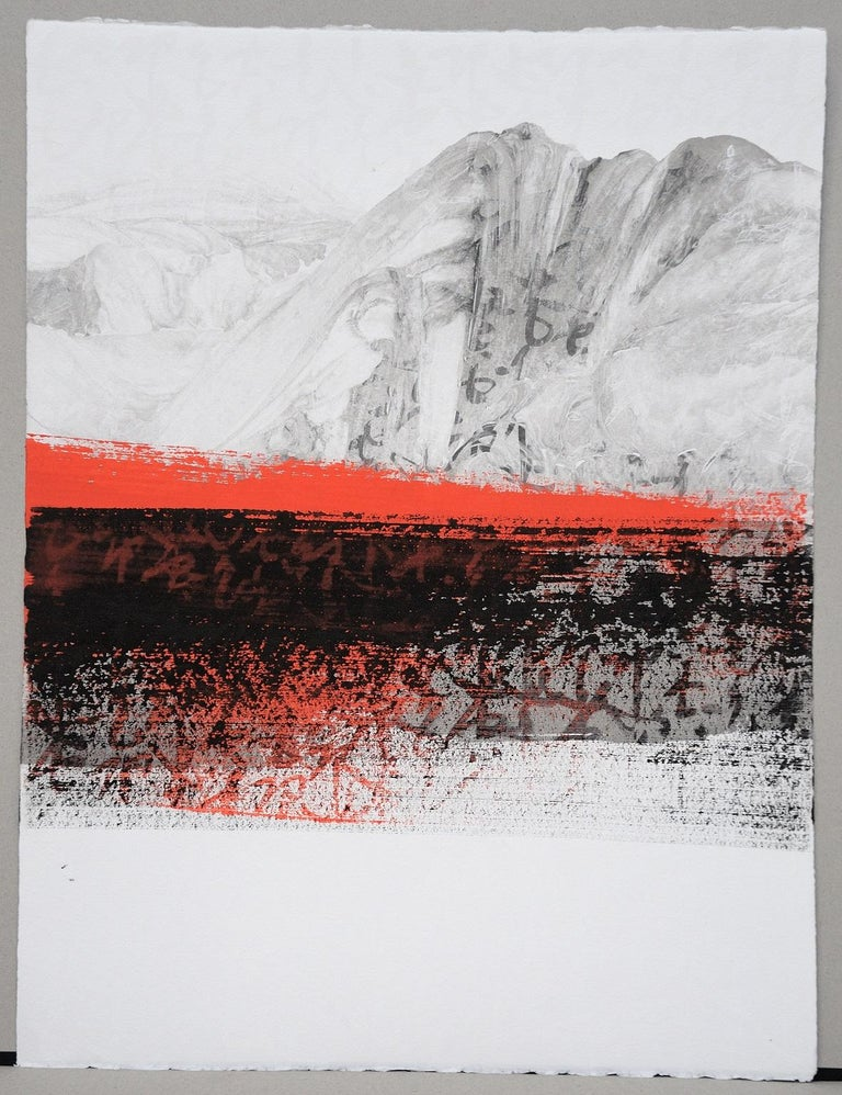 Permanescence N403-T by Hachiro Kanno - Calligraphy-based abstract work on paper For Sale 2