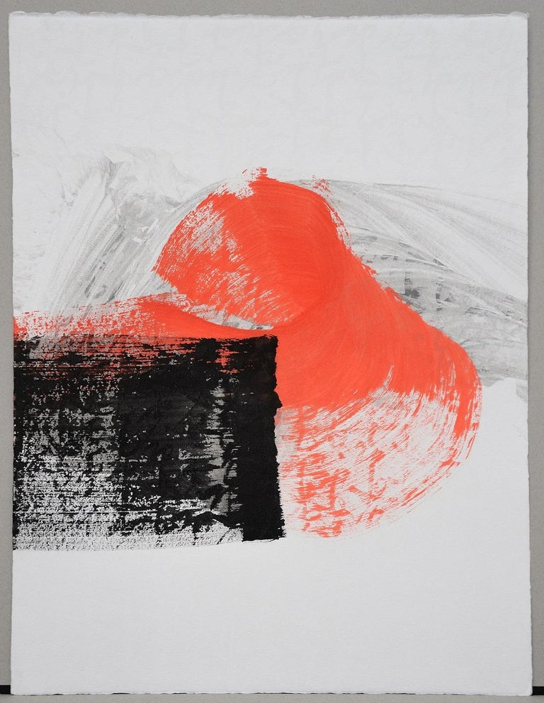 Permanescence N403-T by Hachiro Kanno - Calligraphy-based abstract work on paper For Sale 3