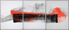 Permanescence N403-T by Hachiro Kanno - Calligraphy-based abstract work on paper