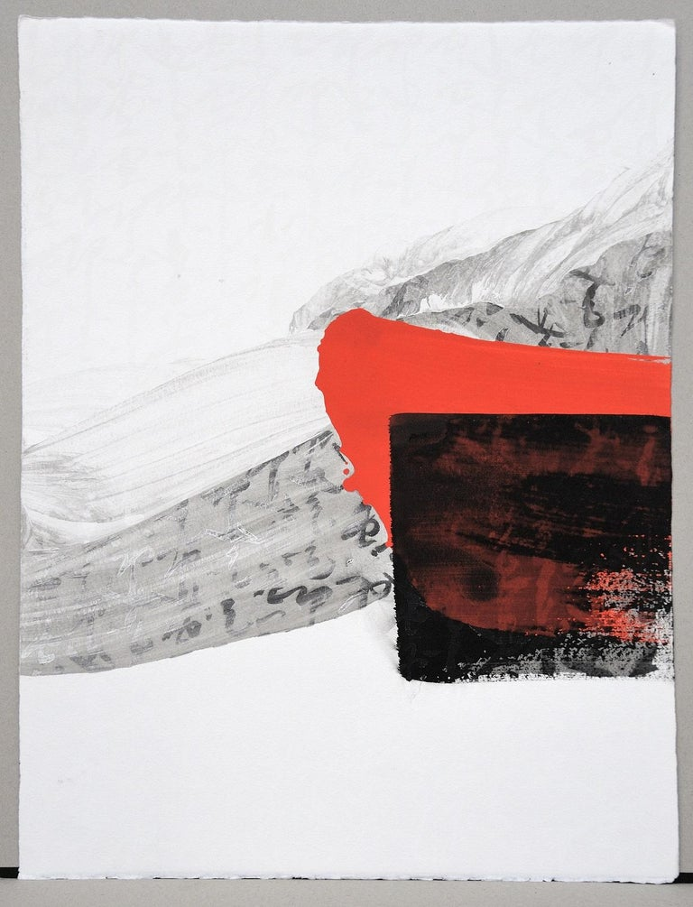 Permanescence N403-T by Hachiro Kanno - Calligraphy-based abstract work on paper For Sale 1