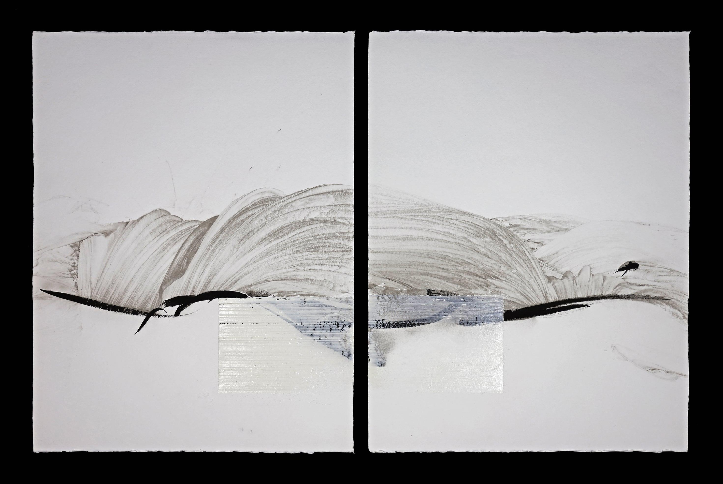 Permanescence N496-D - Calligraphy-based abstract work on paper