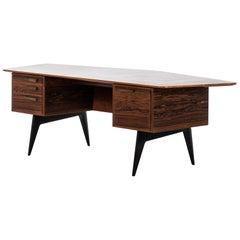 Hadar Schmidt Desk in Rosewood Produced by Hadar Schmidt in Sweden
