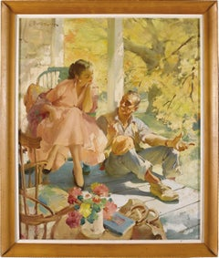 End of the Road,  Couple, Ladies Home Journal, Golden Age of Illustration