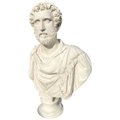 Hadrian Roman Emperor Bust Sculpture, 20th Century