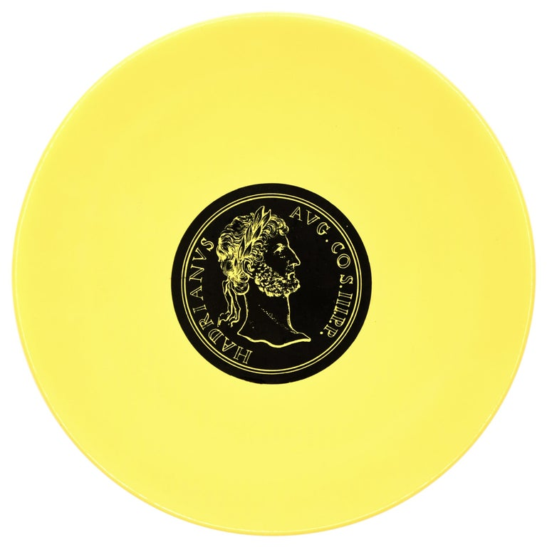Hadrianus Plate, Roman Emperors, by P. Fornasetti, 1960s For Sale