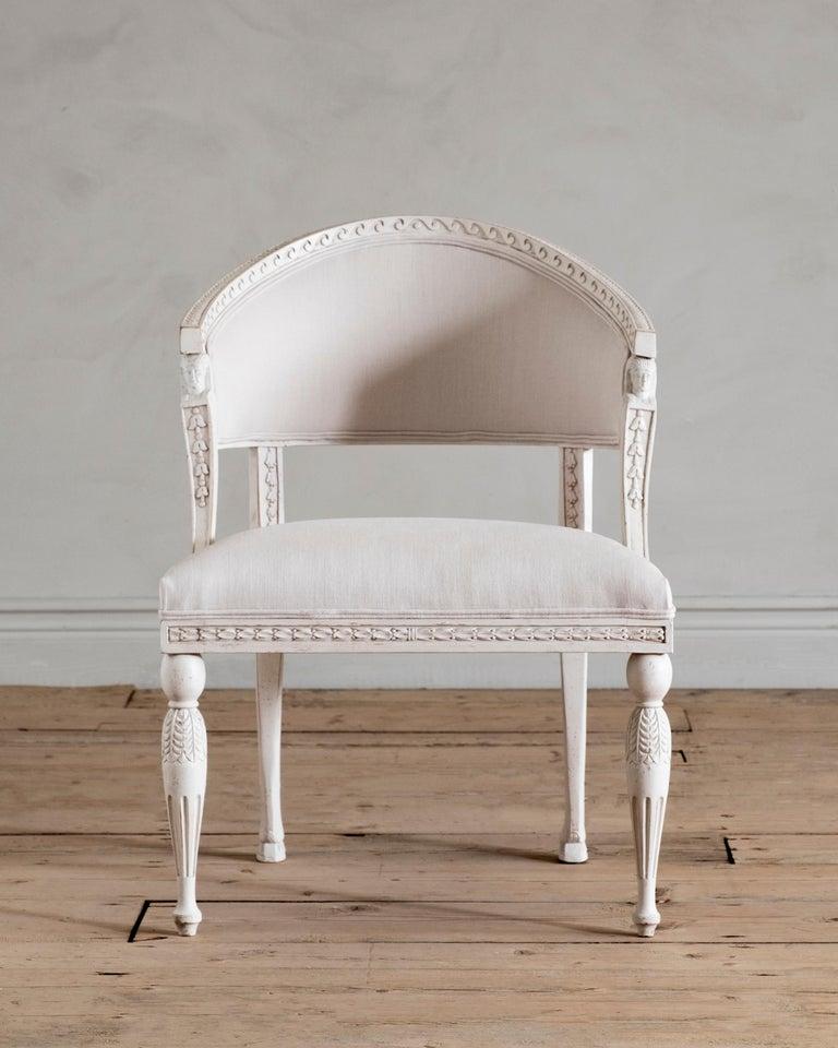 Swedish Haga, Gustavian Style Armchair For Sale