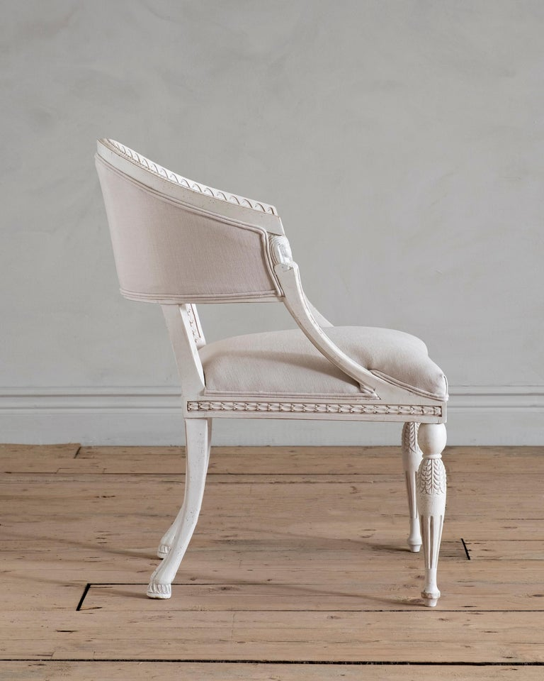 Haga, Gustavian Style Armchair In New Condition For Sale In Helsingborg, SE
