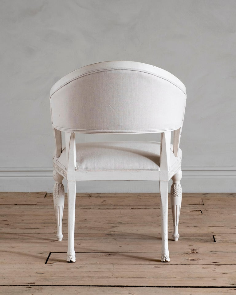 Contemporary Haga, Gustavian Style Armchair For Sale