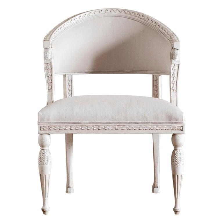Haga, Gustavian Style Armchair For Sale