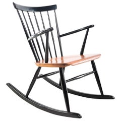 Hagafors Rocking Chair by Roland Rainer Vintage Midcentury