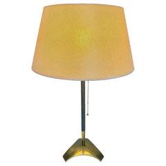 Hagenauer Mid-Century Modern Brass Tripod Table Lamp, 1960s, Austria