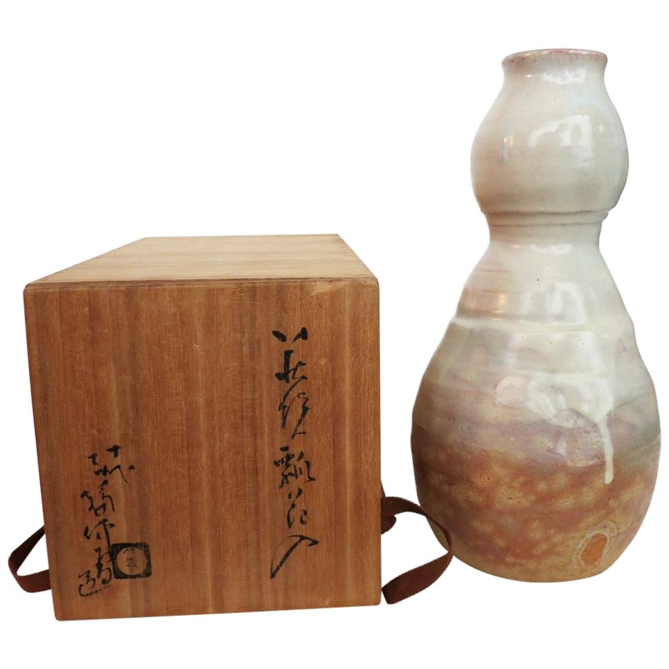 Hagi Ikebana Vase by Kyusetsu Miwa X Japanese Studio Pottery