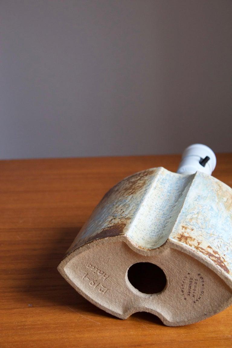Danish Haico Nietzsche, Table Lamp, Glazed Stoneware, Søholm, Denmark, 1960s For Sale