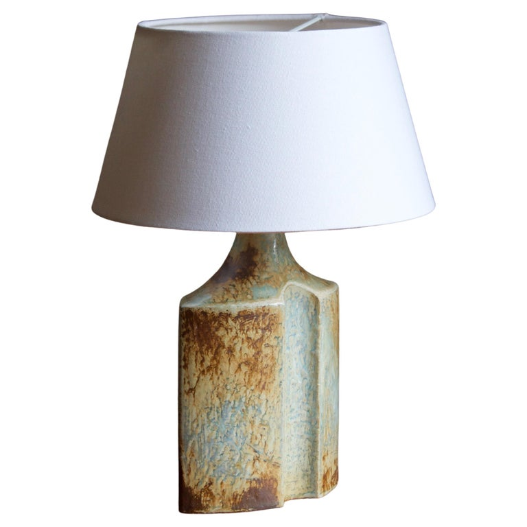 Haico Nietzsche, Table Lamp, Glazed Stoneware, Søholm, Denmark, 1960s For Sale