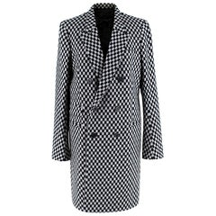 Haider Ackermann Checkerboard Double Breasted Coat FR38