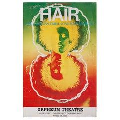 """Hair"" 1968 U.S. Window Card Theatre Poster"
