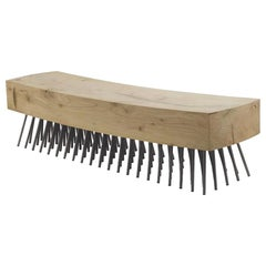 Hair Brush Bench in Solid Natural Cedar