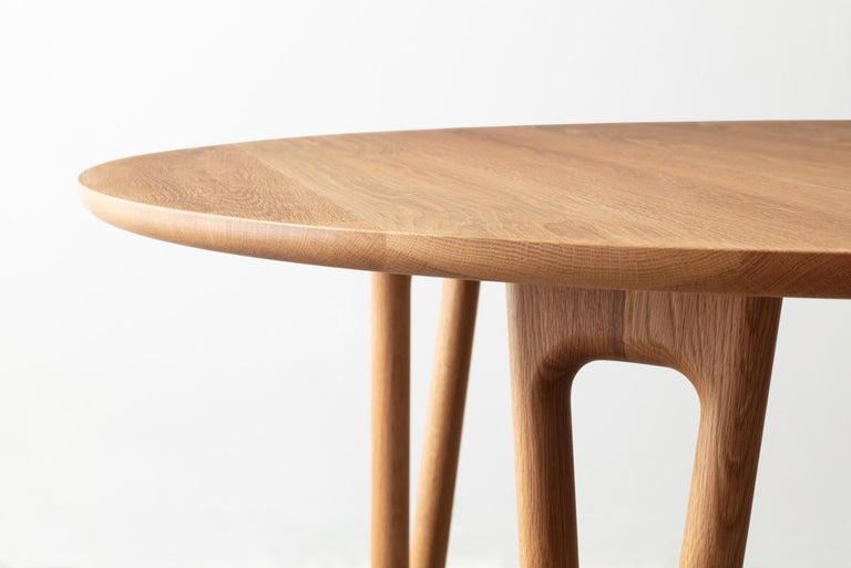 Modern Hairpin Dining Table, Solid Wood, Made to Measure Shapes & Size, Handmade in USA For Sale