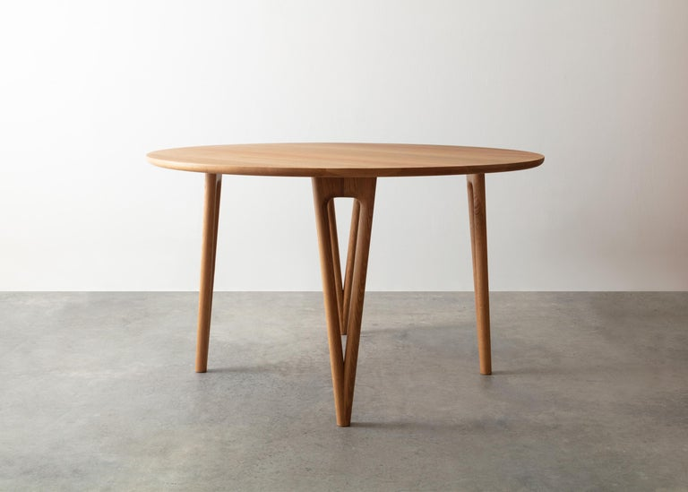 Hand-Crafted Hairpin Dining Table, Solid Wood, Made to Measure Shapes & Size, Handmade in USA For Sale