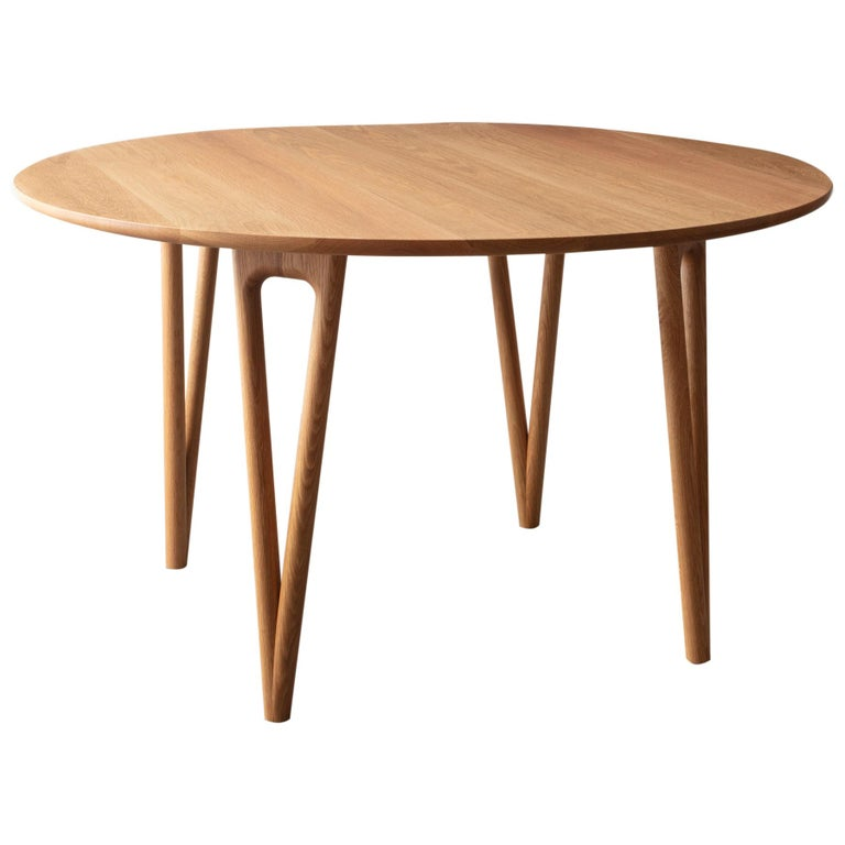 Hairpin Dining Table, Solid Wood, Made to Measure Shapes & Size, Handmade in USA For Sale
