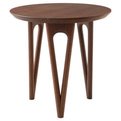 Hair Pin End, Side Table Shown in Black Walnut 18D x 18H, Made in USA