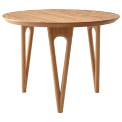 Hair Pin End, Side Table Shown in White Oak, Made in USA