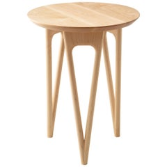 Hair Pin Side Table Shown in Hard Maple and White Oak, Made in USA