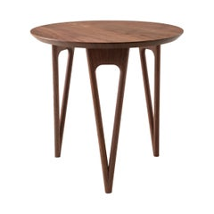 Hair Pin Side Table Shown in Black Walnut, Made in USA