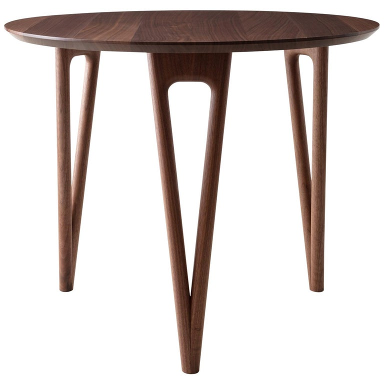 Dining Table 36 Round Walnut Hardwood