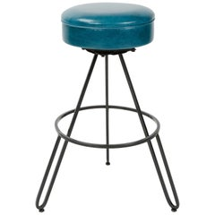 1950s Hairpin Swivel Barstool