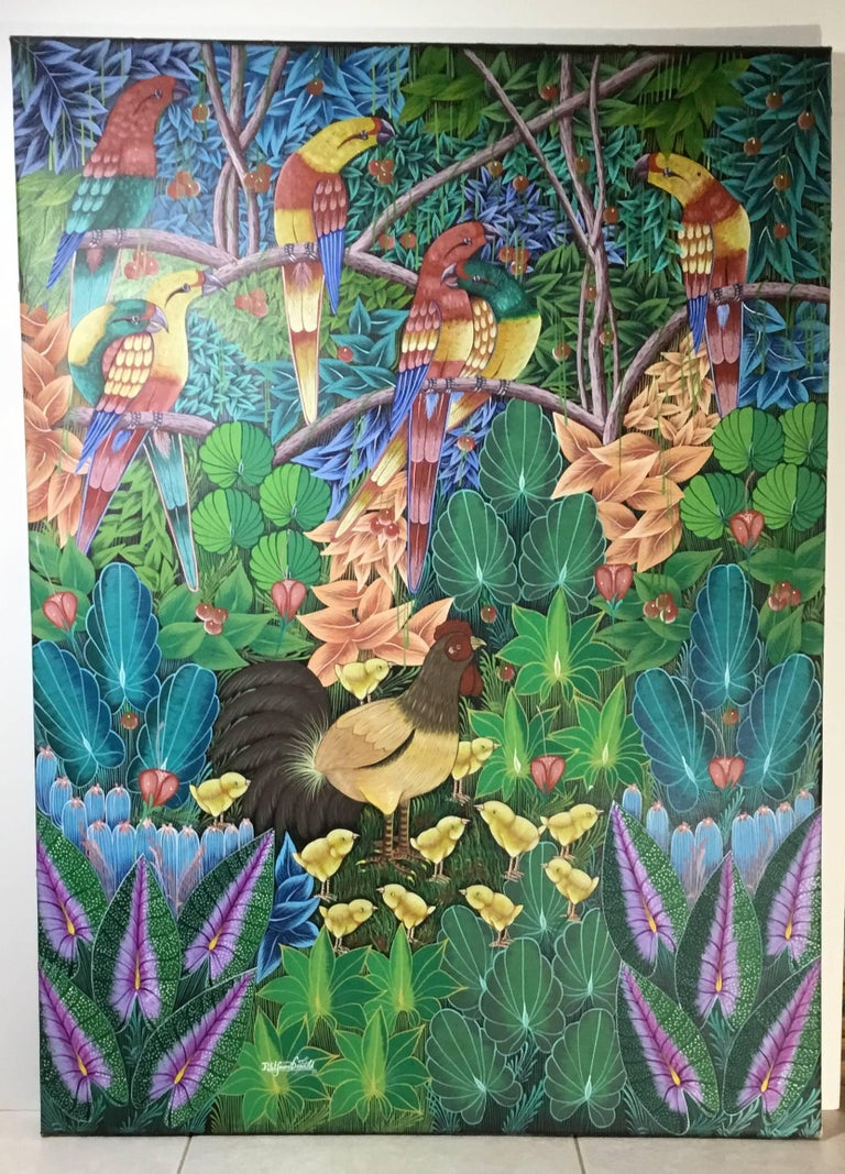 Haitian Oil Painting on Canvas For Sale 6